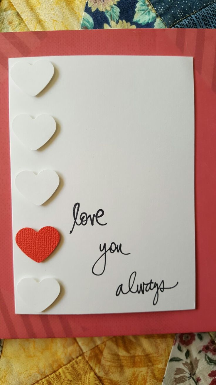 Love you always Valentines day card