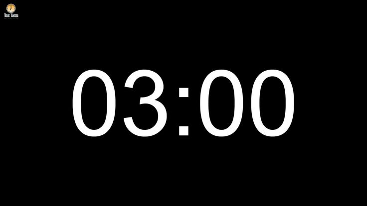 3 minute Countdown timer (with alarm)