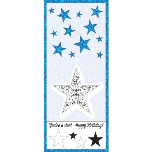 FREE 2 star stencils, a large flourish star stamp (that co-ordinates with the large stencil) and a fab stamp set! All free with Simply Cards & Papercraft 130!