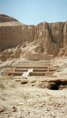 This is the burial place of Pharaoh Hatsheosut. Pharaoh Hatshepsut (/hætˈʃɛpsʊt/;[3] also Hatchepsut; meaning Foremost of Noble Ladies;[4] 1508–1458 BC) was the fifth pharaoh of the Eighteenth dynasty of Ancient Egypt. She is generally regarded by Egyptologists as one of the most successful pharaohs, reigning longer than any other woman of an indigenous Egyptian dynasty.