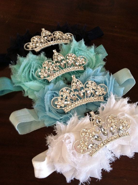 Baby Crown headband Flower Tiara Rhinestone Baby by mysweetbee, $10.00