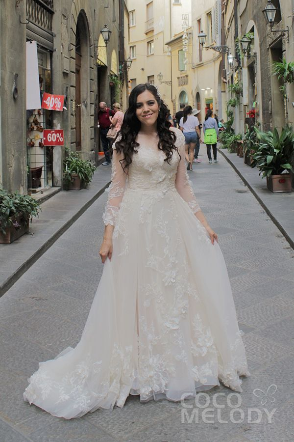 Usd 599 A Line Court Train Tulle Lace Wedding Dress Ld5713 Wedding Dresses Wedding Dresses Lace Applique Wedding Dress