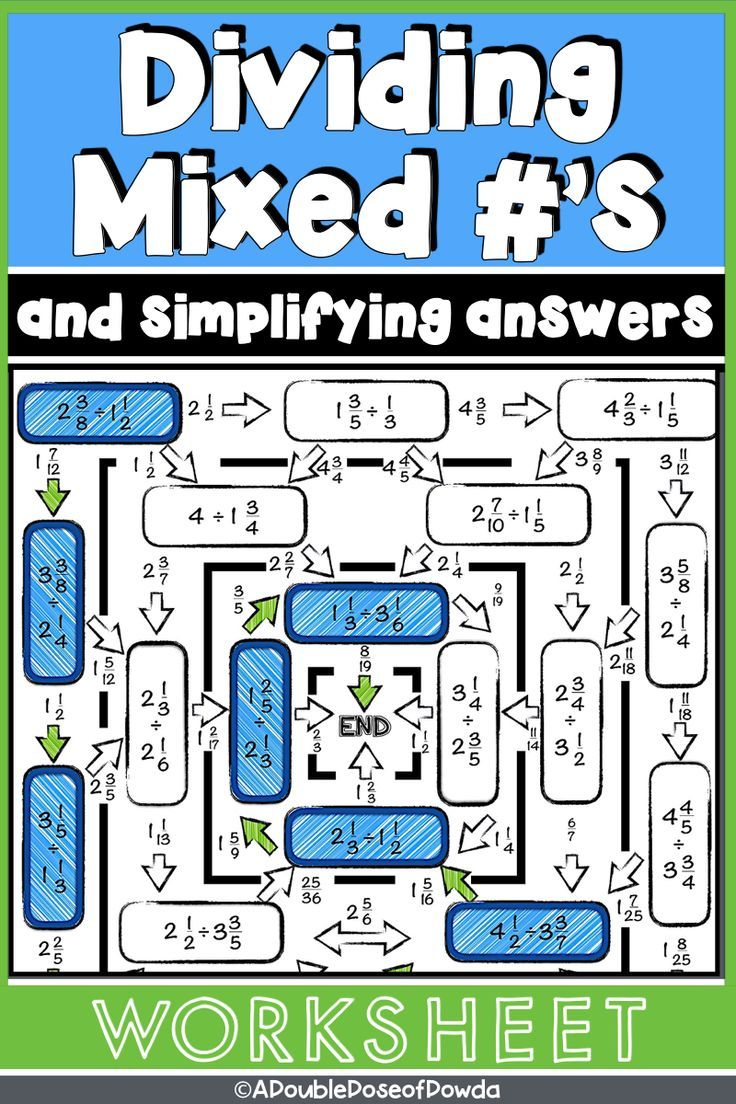 Dividing Mixed Numbers Worksheet Level 3 Common Core Math Fractions Math Graphic Organizers Teaching Fractions