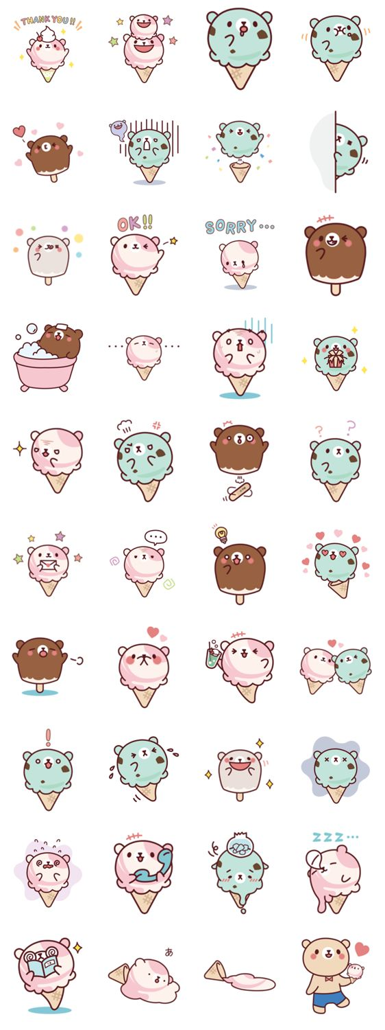 Hee hee. I'm gonna lick all that icecream even if they're BEARS. But too bad. :3
