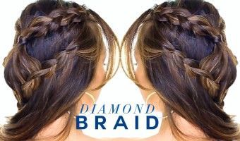 Diamond Headband Braid Hairstyle | Cute Half Updo Hairstyles