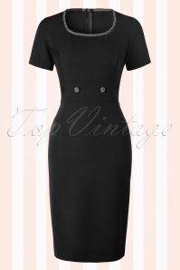 Hulahup Follow Black Pencil Dress Polkadot Knot 16380 20150625 003W