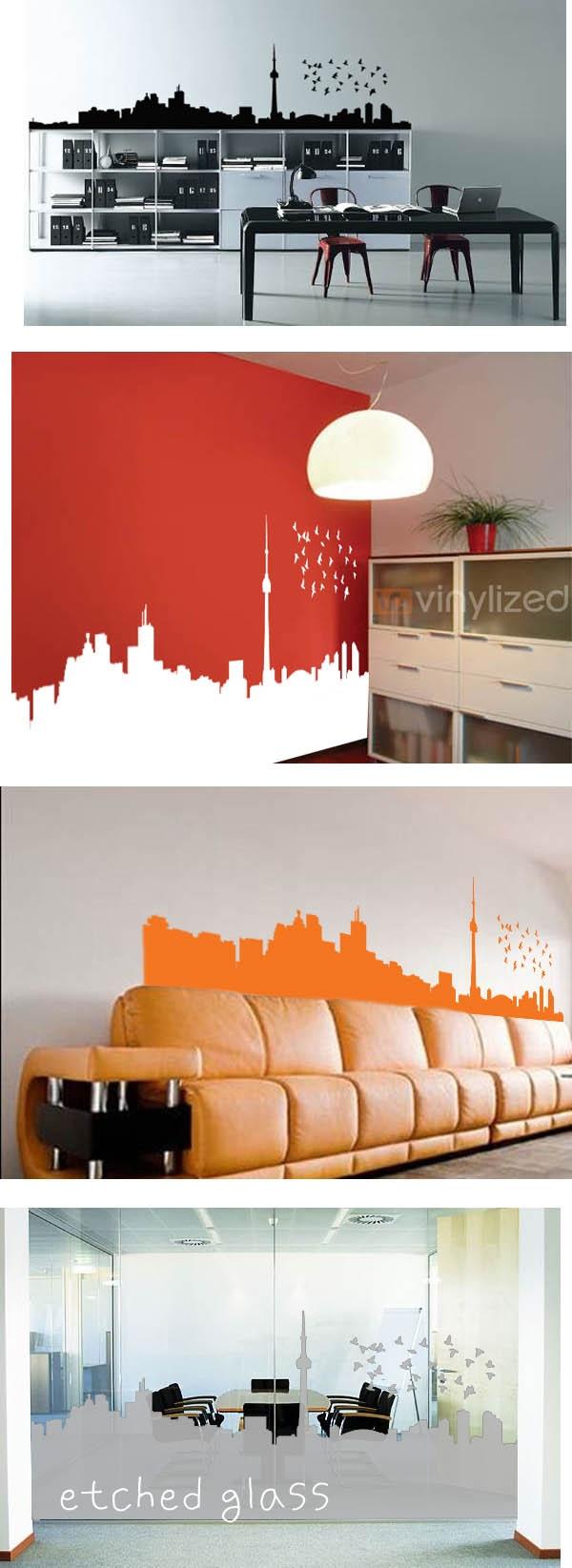 Toronto skyline vinyl options city ccondo designwall decal