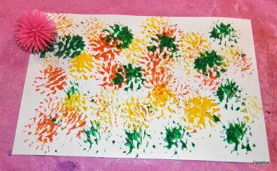 Tippytoe Crafts: Porcupine Ball Prints