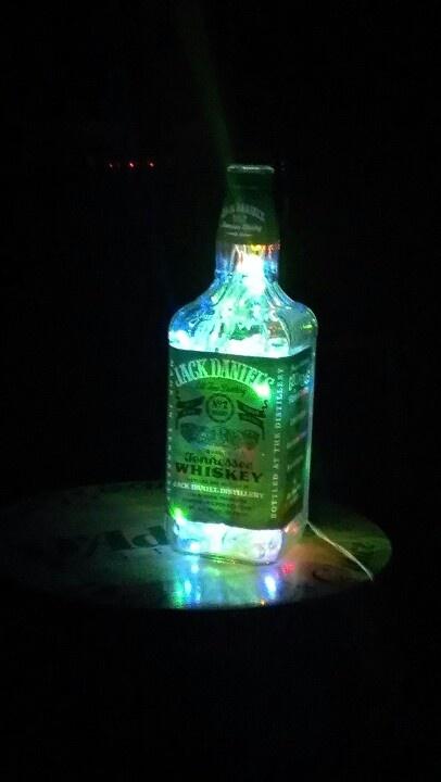 Green label Jack Daniels lamp I made.