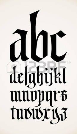 letter gothic: vector gótico alfabeto fuente