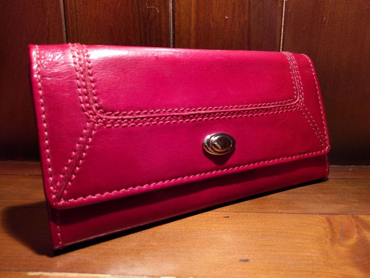 Red Leather Purse by Marks & Spencer - Good Used Condition, Lovely #MarksandSpencer #CoinPurse