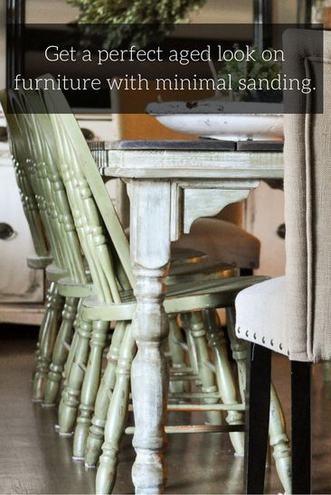 Farmhouse table makeover with little to no sanding…