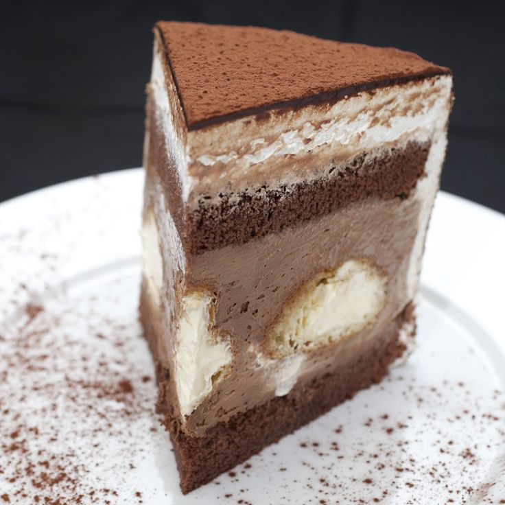 White And Chocolate Mousse Cake