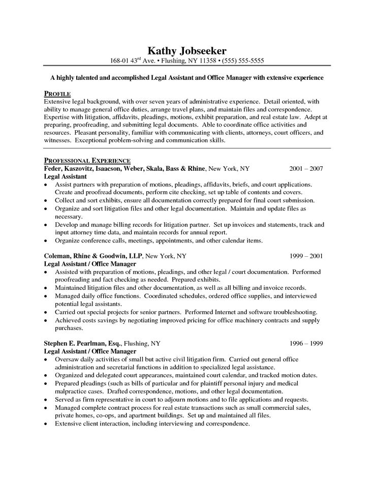 administrative resume objective examples