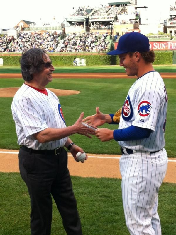 Maestro Muti of the Chicago Symphony threw the first pitch before today's Cubs game (June 14, 2012): Chicago Cubs, June 14, Room Ideas, Symphony Threw, Maestro Muti, Spencer S Room, Game June, Cubs Game