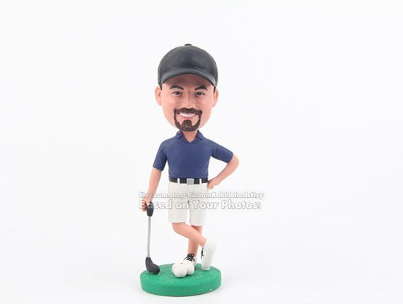 Personalized golfer bobblehead dolls Golf gifts for men Dad