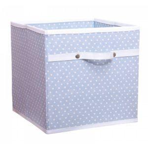 Blue Polka Dot Storage Box