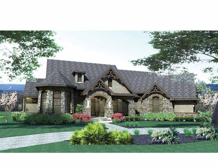 French Country House Plan with 2595 Square Feet and 3 Bedrooms from Dream Home Source | House Plan Code DHSW73226