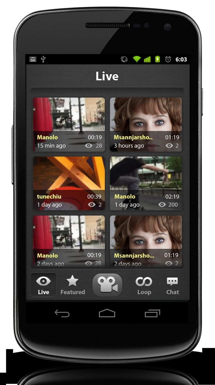 Looplr Live Feed Screenshot.  Get the Looplr App Now  www.looplr.com