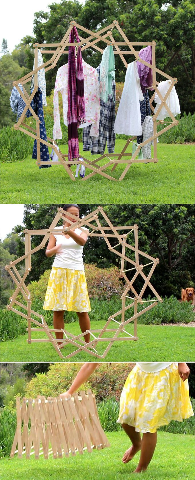 em forma de estrela de roupa de secagem-rack-apieceofrainbowblog (2)