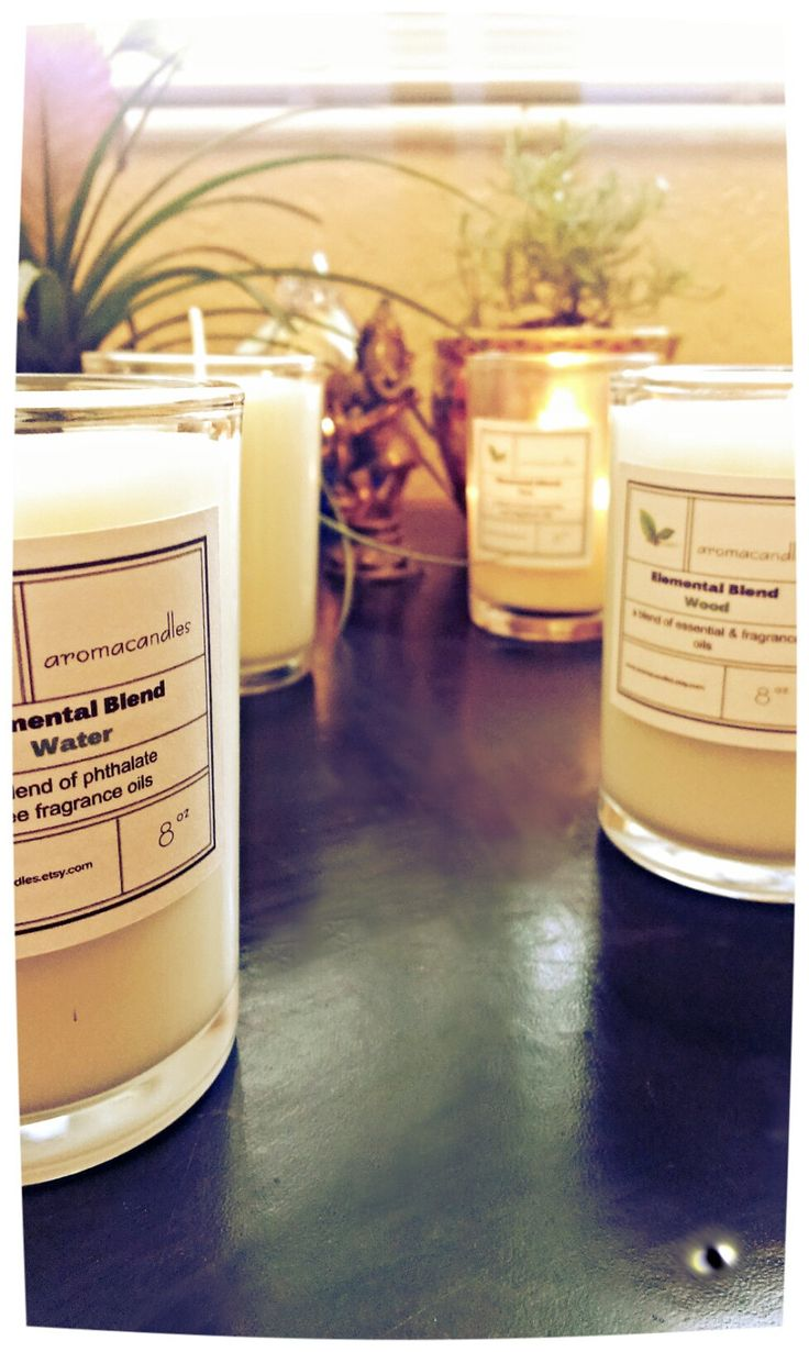 Elemental Soy Candle Set - Wood, Water, Fire and Earth. Unique gift idea, Feng Shui, Zen, Mothers Day, Unisex, made with essential oils by aromacandles on Etsy #Zen #fengshui #home
