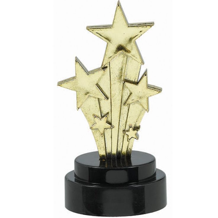 Hollywood Star Trophies (6 count) from BuyCostumes.com