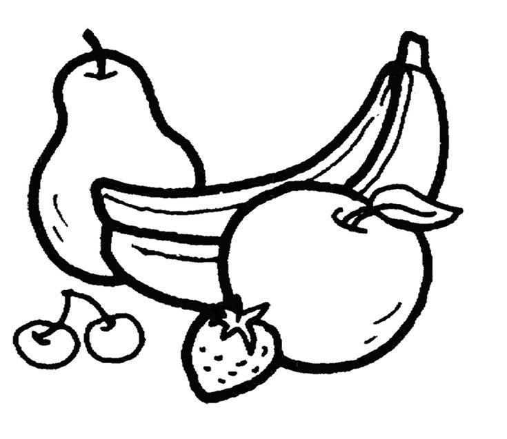 Bananas And Other Fruits Coloring Page