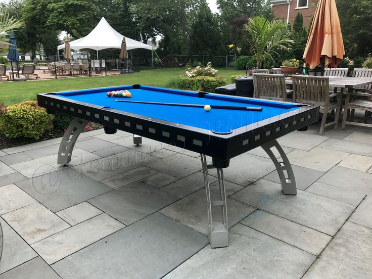 Unique design outdoor pool table  100% waterproof  Modern style billiards table All aluminum & stainless steel construction  Available in both 7' and 8' sizes