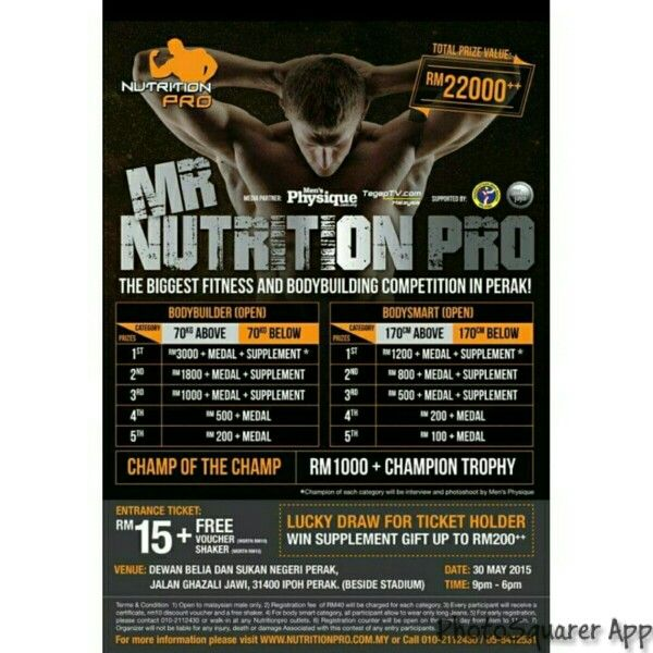 Its getting nearer guys! You can register and get your tickets at any of our outlets located in IPOH, KAMPAR, KAMUNTING, JOHOR, KEPONG, CHERAS and SEREMBAN now! Feel free to CALL/SMS 010-2112430 if you have any kind of questions.  #MrNutritionPro2015 #gym #gymselfie #FitFam #FitMalaysia #bodybuildingcompetition #competition #bodybuilding #bodysmart #bodybuilder #supplementshop #kedaionline #whey #protein #proteinshop #selfie #flyers #pertandinganbinabadan #malaysiamuscle #mbbf #mensphysique…