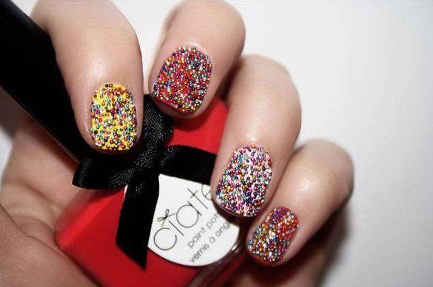 Caviar Manicure 2012 unghie caviale sono il trend per la nail art dell'estate 2012