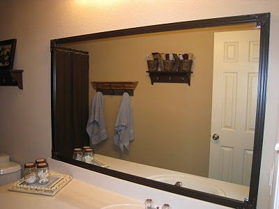 Framed Bathroom Mirrors Cheap best 25+ mirror border ideas on pinterest | tile around mirror