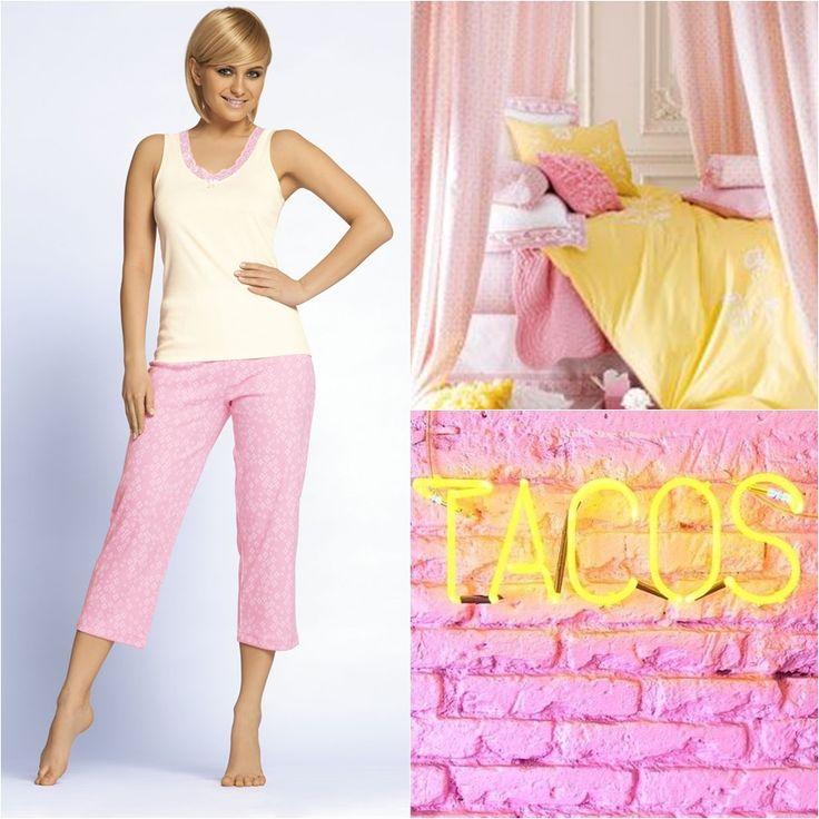 TAVERNA #pijama #unikat #pink #pastel #yellow #blonde #sleep #nightwear #Lingerie #underwear #taverna