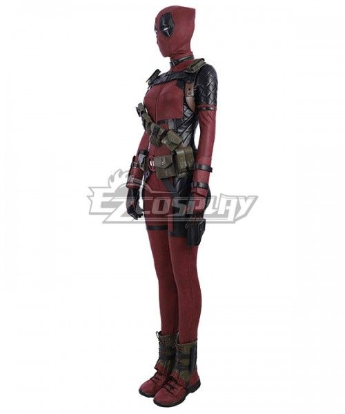 Marvel Deadpool Wade Wilson Red High Heeled Red Shoes