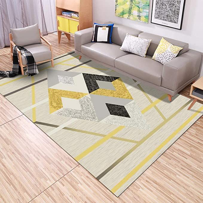 Yishudengshi Carpet Large Size Rectangle Area Rugs Non Slip Durable Coffee Table Floor Mat Modern Simple Geometric In 2020 Rugs In Living Room Home Decor Large Carpet