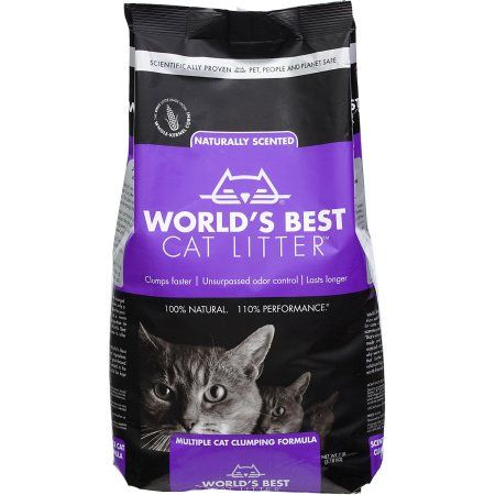 World's Best Cat Litter, Clumping Litter Multi-Cat Lavender Scent, 7 Lb, Multicolor
