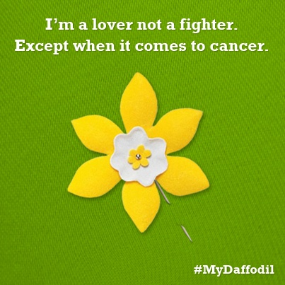 Repin if you feel the same. It's time to fight back against cancer. #MyDaffodil
