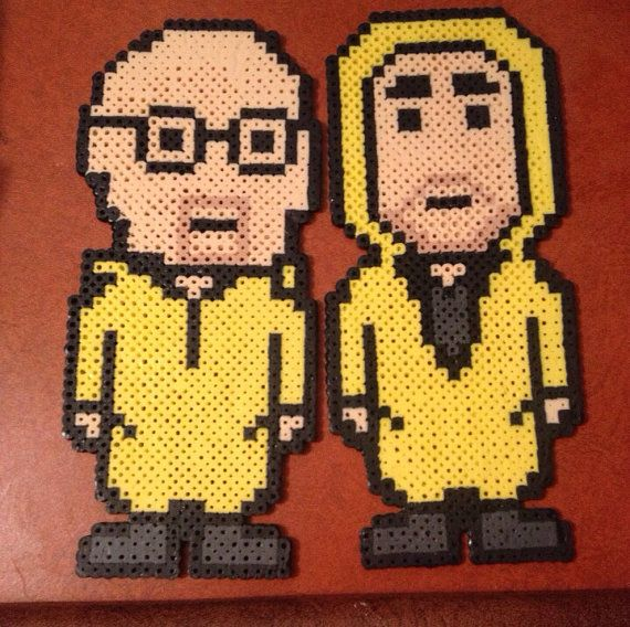 Breaking Bad Walter White and Jesse Pinkman Perler Bead Art by ThePinkTurtleLady, $14.00