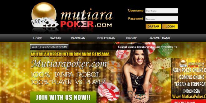 MUTIARAPOKER, Daftar Poker Online Indonesia