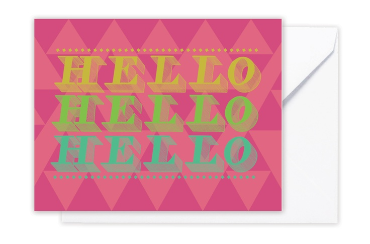 """Hello"" note card  www.storystpapershop.com"