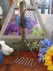 Vintage Prim Rustic Country Farmhouse Metal Potato Masher w/Bear Accents