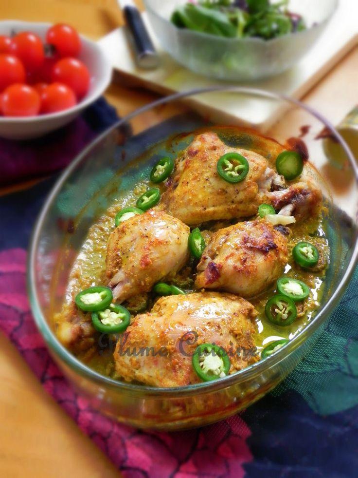 Poulet-curry-au-four (avec yaourt et épices)
