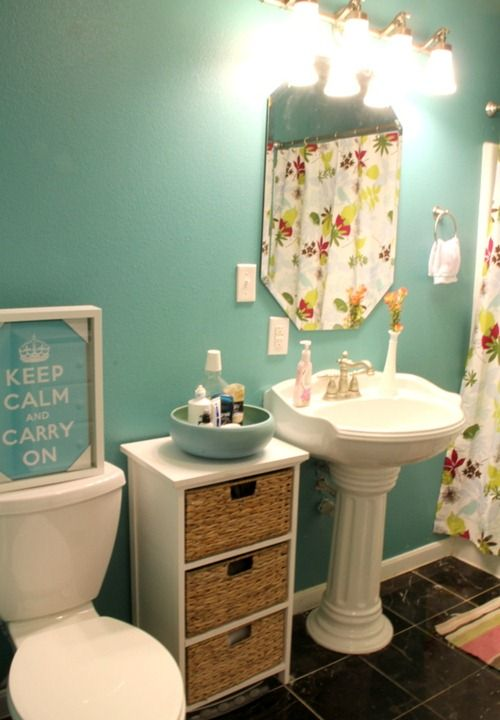 20 DIY Room Makeovers For Spring Inspiration! Bathroom LaundryBathroom  StorageBathroom IdeasPedestal Sink ...