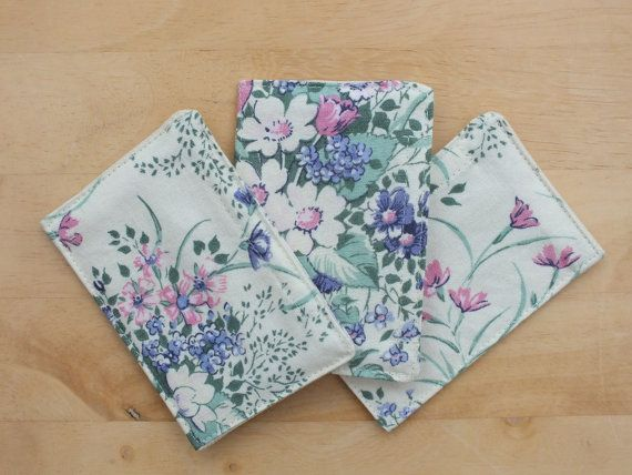 Home Scent Sachets in Wild Flower Cotton Fabric - refillable with your own fragrance