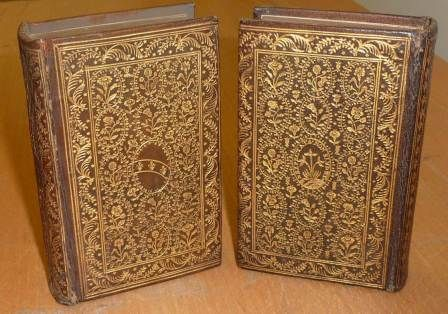 """Pietro Duodo's copy of """"Amadis de Gaula"""" (1582), bound in the olive-brown leather for literary works."""