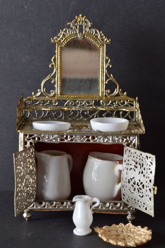 70 best images about miniature washstands on pinterest ruby lane french and doll shop. Black Bedroom Furniture Sets. Home Design Ideas