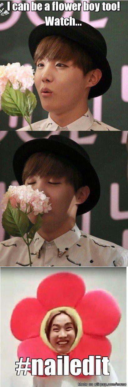 J-Flower Boy XD <3 <3 <3 BTS