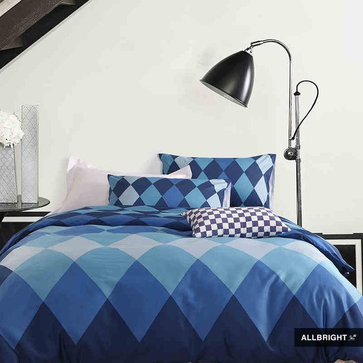 Find More Bedding Sets Information about scandinavian style 100% Egyptian Cotton Bedding Set 60 counts  Reactive Printing (duvet cover fitted sheet and pillowcases),High Quality Bedding Sets from Full Love House - AMYLISH HOME FURNISHINGS on Aliexpress.com