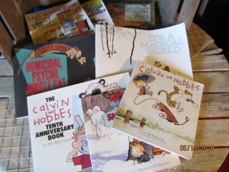 Calvin and hobbes collection of 8 books by bill watterson