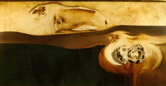 "judith mason -""Movement of a Lion"", 1968 - oil/board, mixed media"