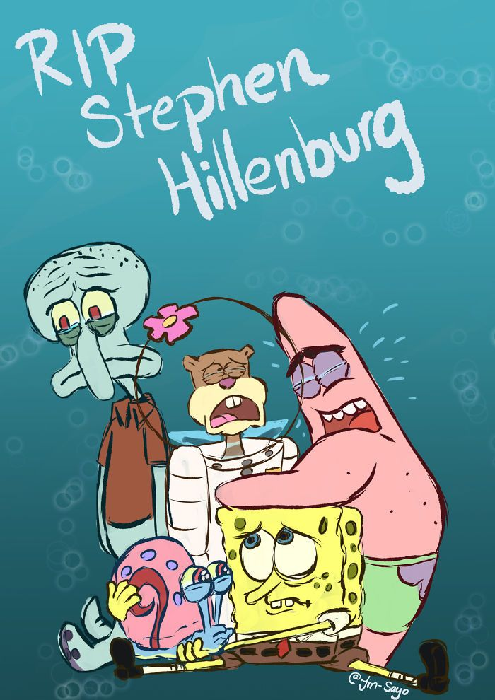 Fans pay homage to the Late 'SpongeBob' Creator Stephen